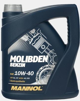 Моторное масло  MANNOL 10W 40 Molibden бензин