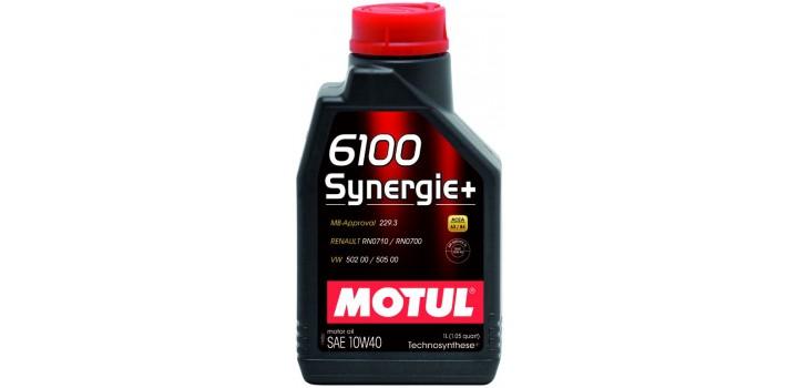 Моторное масло MOTUL 10w40 6100+Technocynthese synergie