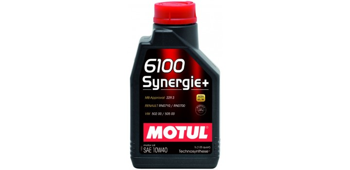Моторное масло MOTUL 10w40 6100+Technocynthese synergie