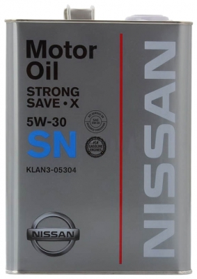 Моторное масло NISSAN 5w30 SN Strong Save X