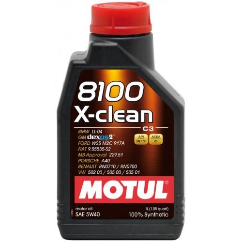 Моторное масло MOTUL 5w 40 8100 X-Clean