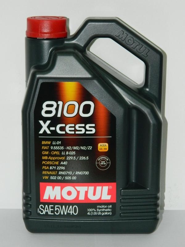 Моторное масло MOTUL 5w40 8100 X-Cess