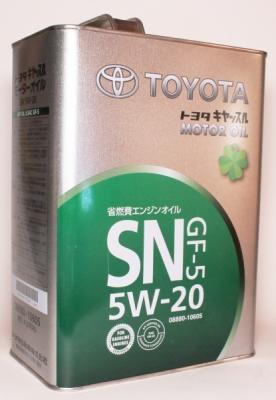 Моторное масло TOYOTA 5w20 SN