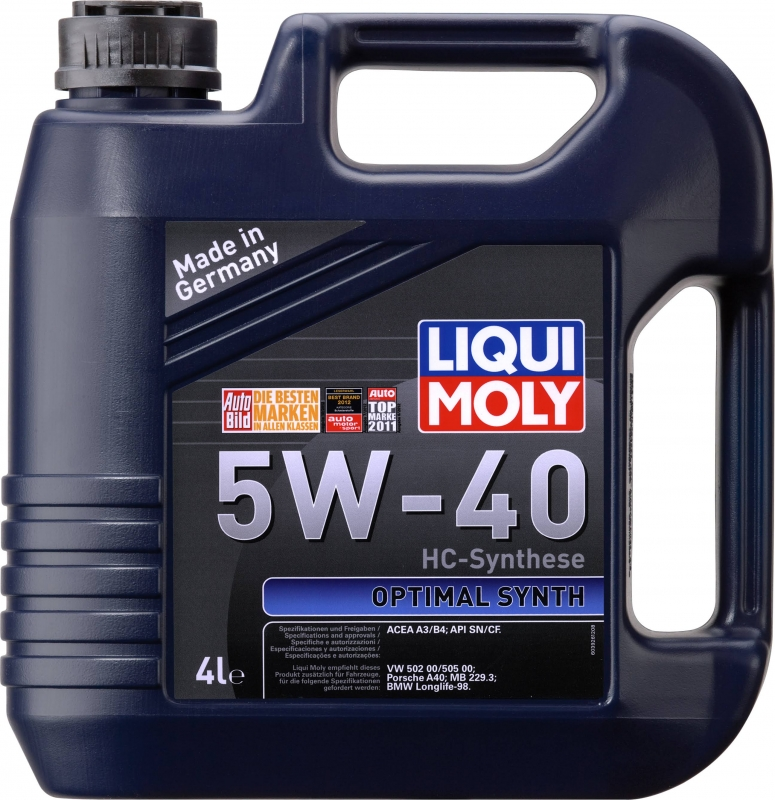 Моторное масло LIQUI MOLY optimal 5w40