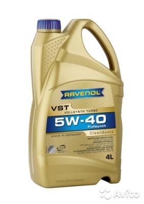 Моторное масло RAVENOL 5w40 VST SAE