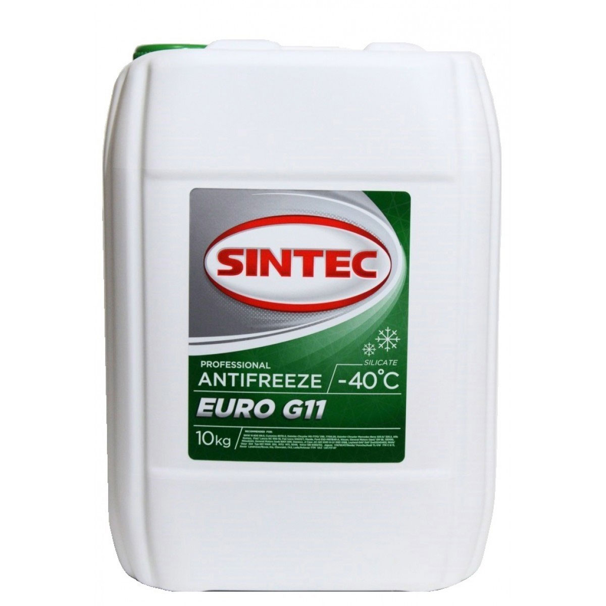 Антифриз SINTEC Зеленый 10л
