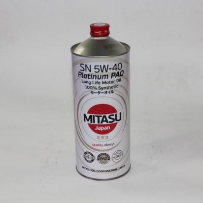 Моторное масло MITASU 5W40 PLATINUM PAO SN