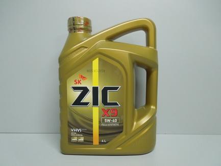 Моторное масло ZIC X9 5w40 SN