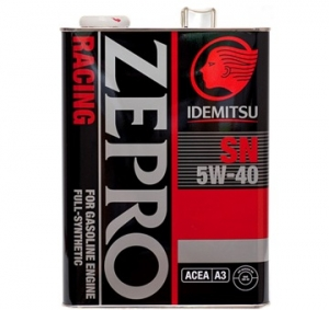 Моторное масло IDEMITSU 5w40 ZEPRO RACING SN