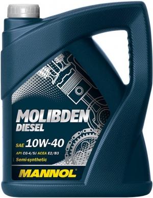 Моторное масло MANNOL 10W40 Molibden Extra Diesel