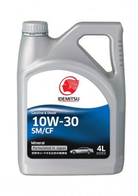 Моторное масло IDEMITSU 10W30 Mineral SM/CF