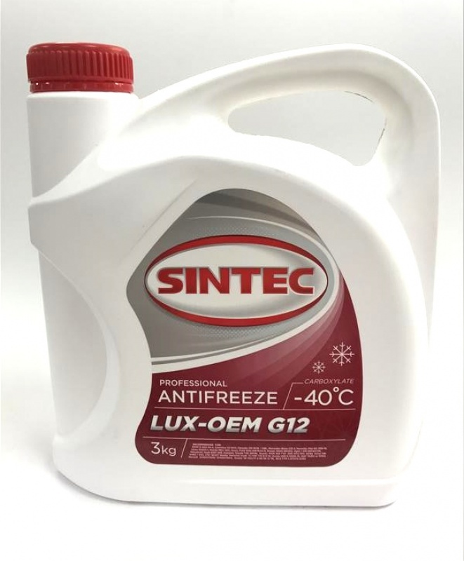 Антифриз SINTEC Красный 3л