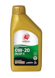 Моторное масло IDEMITSU 0W20 FULLY SN/G-5F
