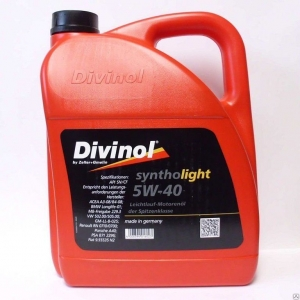 Моторное масло DIVINOL 5w40 Syntholight