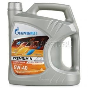Моторное масло GAZPROMNEFT 5w40 Premium N