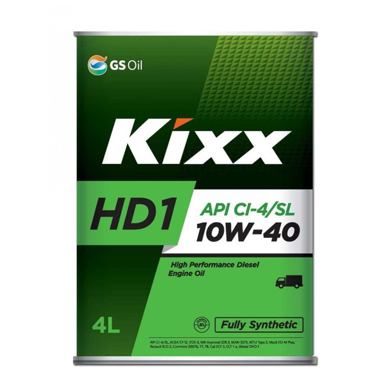 Моторное масло KIXX 10W40 HD1 CL4 4л