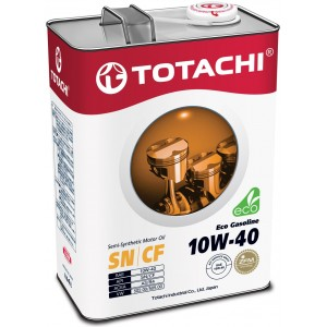 Масло TOTACHI 10w40 SN Eco Gasoline 4л (Полусинтетика)