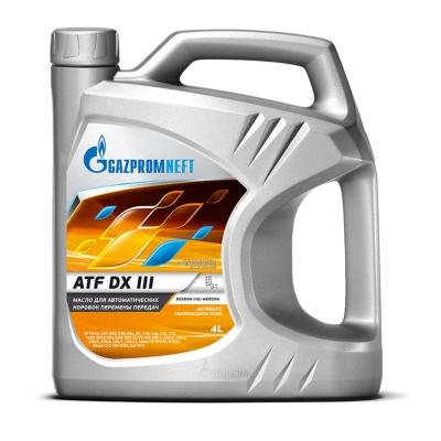 Трансмиссионное масло GAZPROMNEFT ATF  DX III 4л (Минеральное)