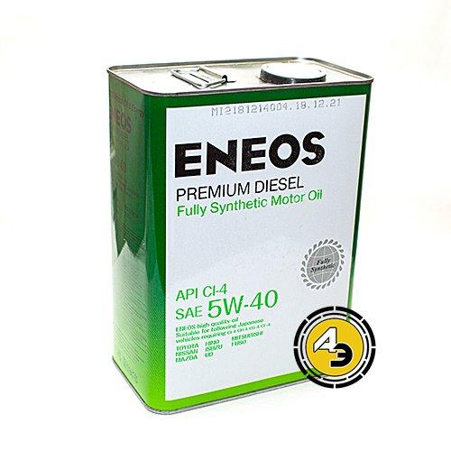 Моторное масло ENEOS 5W40 Premium diesel CL-4
