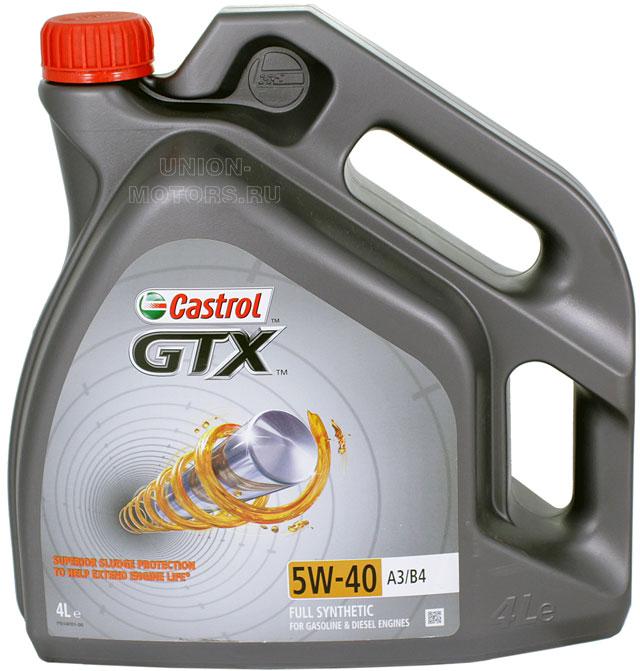 Моторное масло CASTROL GTX 5W40 A3/B3