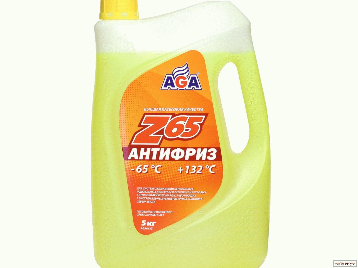 Антифриз AGA Жёлтый 5л