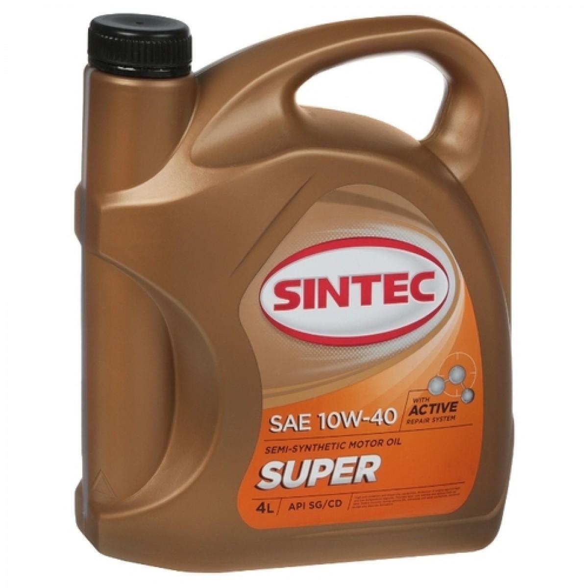 Моторное масло SINTEC 10w40 Super