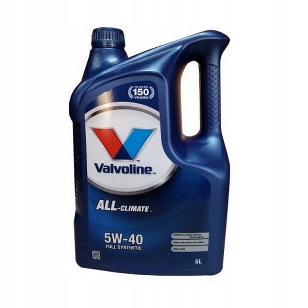 Моторное масло VALVOLINE ALL CLIMATE 5w40